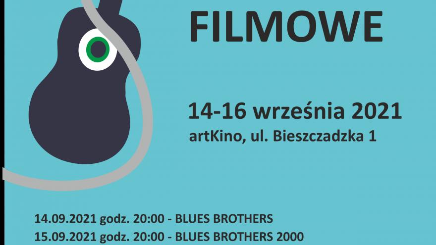 plakat bluesowe wieczory filmowe w artkinie