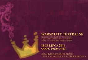 TEATR NA BRUKU w przygotowaniach do powitania JKM Jana Kazimierza w Krośnie