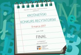 I KROŚNIEŃSKI KONKURS RECYTATORSKI - FINAŁ