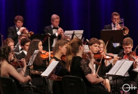 Młodzi niemieccy muzycy w Krośnie