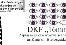 """DKF """"16 mm"""" w artKinie ZAPRASZA PO WAKACYJNEJ PRZERWIE"""