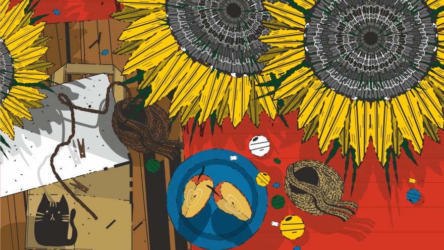 Zakątek dla dzieci, grafika  - zajawka, projekt RCKP