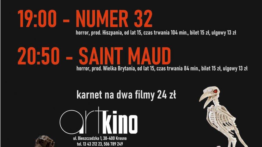 artKino, plakat, wieczór z horrorem 30 października 2020, projekt Paweł Jermak